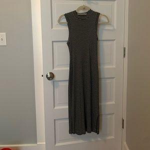 Madewell striped ribbed midi dress